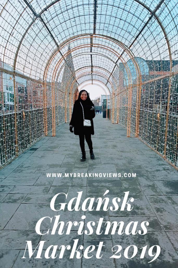 Gdańsk Christmas Market 2019 pintrest