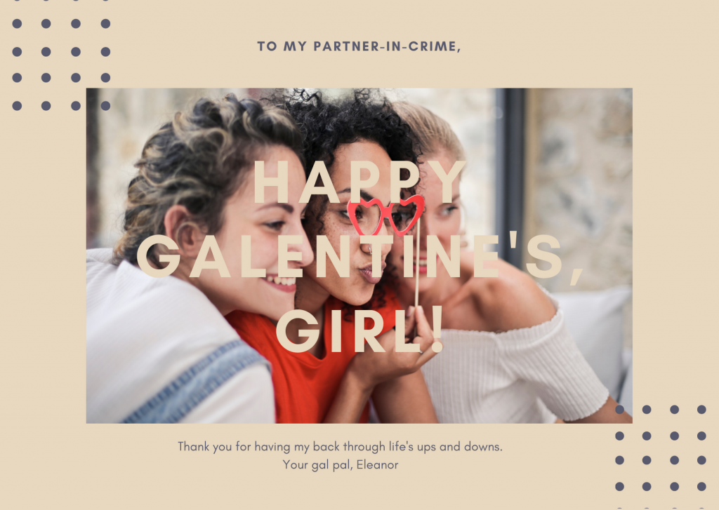 happy galentines girl