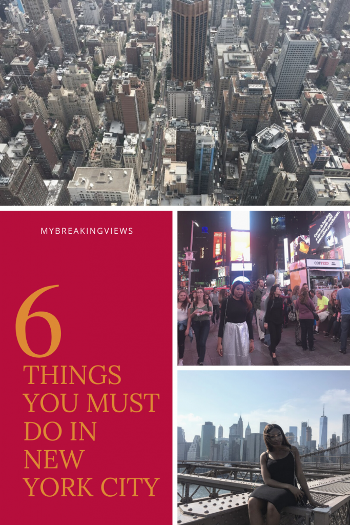 6 THINGS TO DO IN NEW YORK CITY